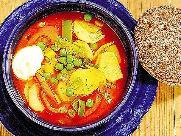 Röd potatissoppa