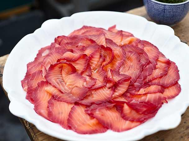 Rödbetsgravad lax, Leilas recept