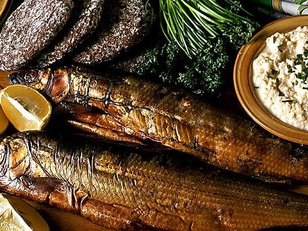 Rökt fisk med äggröra