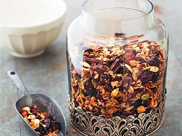Rostad råchokladmüsli