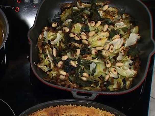Rostad spetskål, grönkål och svartkål