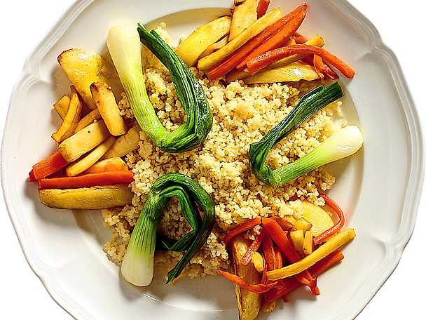 Rostade rotfrukter med couscous