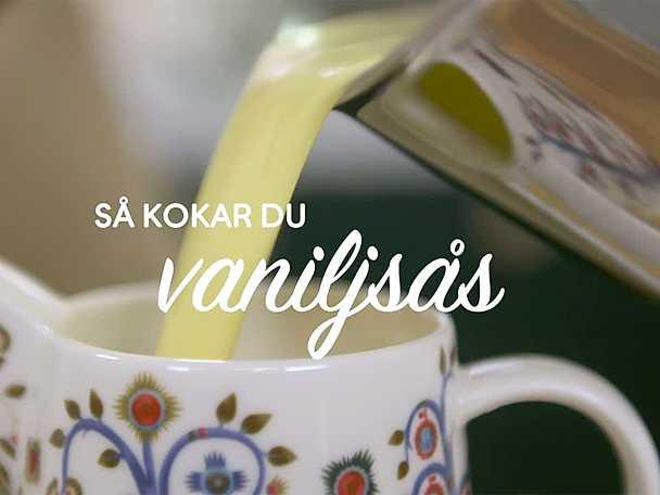 Roy Fares vaniljsås - se & gör