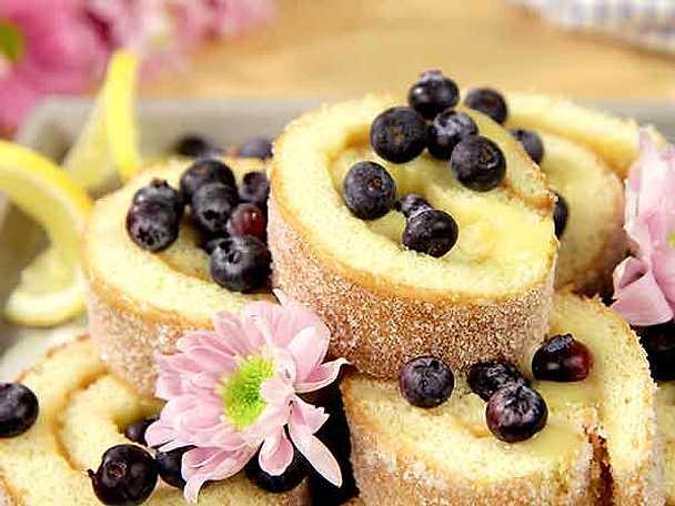 Rulltårta med lemon curd