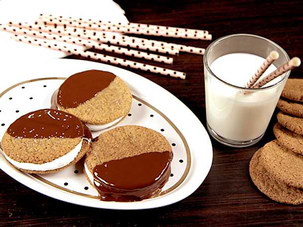 S'mores cookies med fluff
