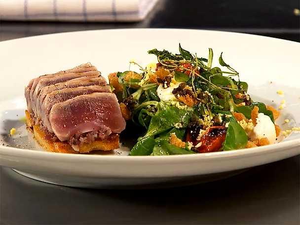 Salade Niçoise med sardelltapenade