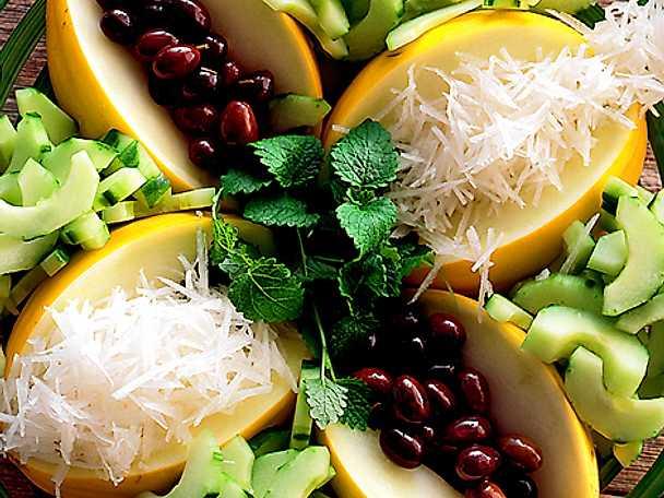 Sallad på melon