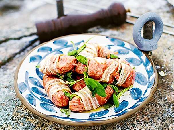 Salsiccia med salvia och bacon