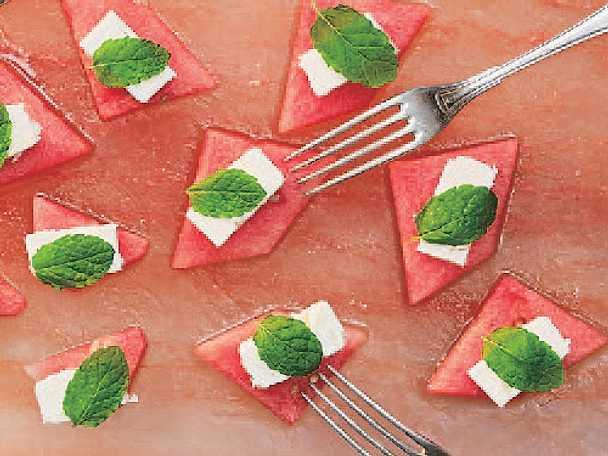 Saltad vattenmelon