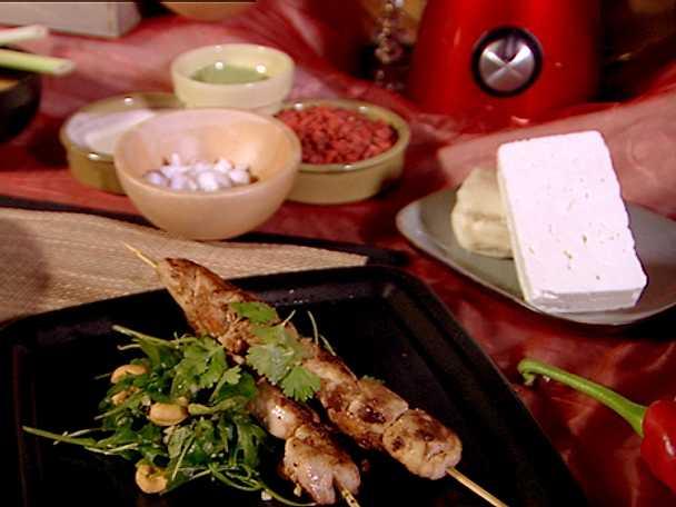 Satay ayam – indonesiska små kycklingspett