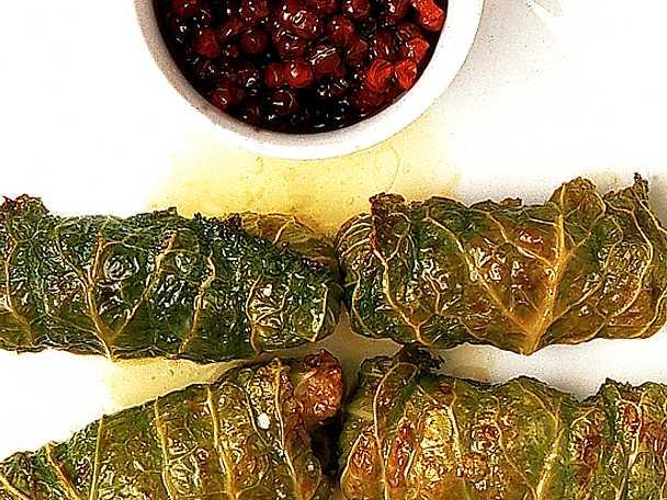Savoykåldolmar med potatispuré