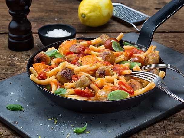 Scan Pasta Järpish con limone het pasta med tomater & sugarsnaps