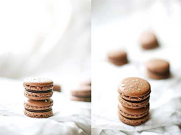Sea salt chocolate macarons!
