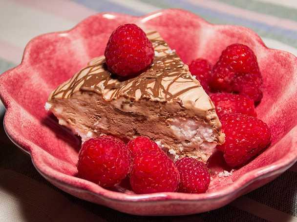 Semifreddo med nötchoklad