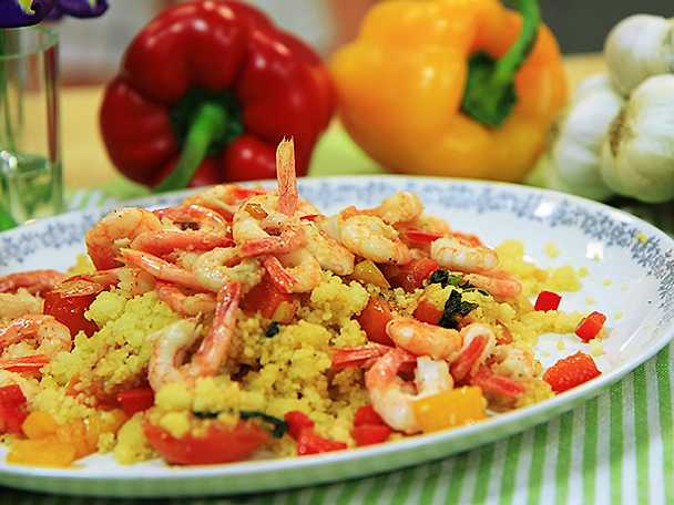 Siciliansk couscous med räkor