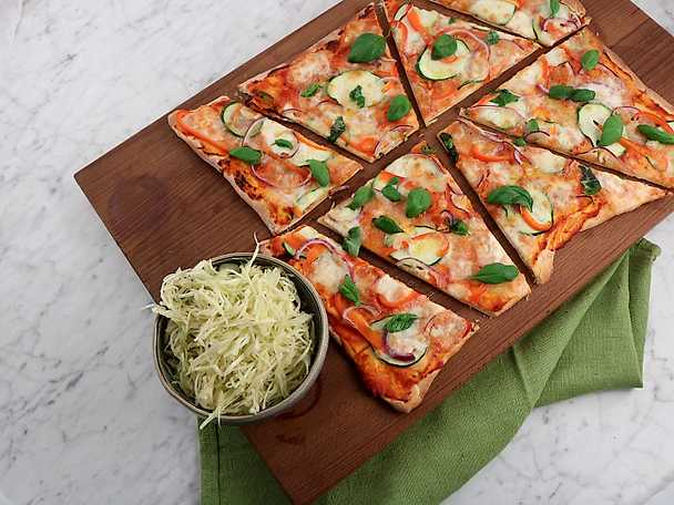 Siris bästa pizza med hemgjord pizzasallad