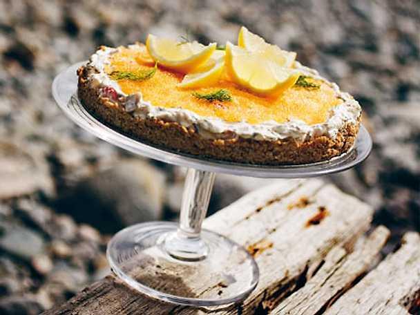 Skaldjurscheesecake med löjrom