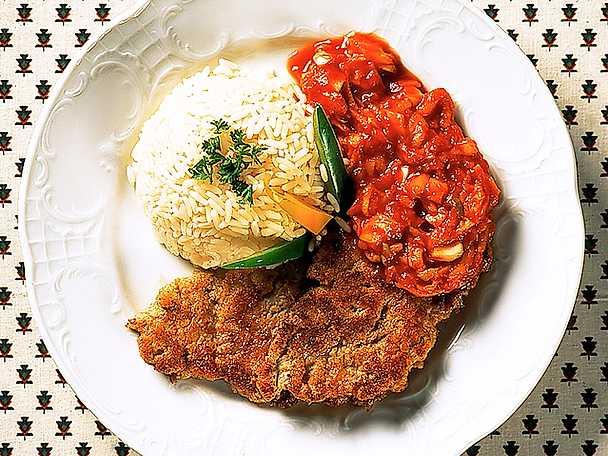 Smal piccata med kall tomatsås