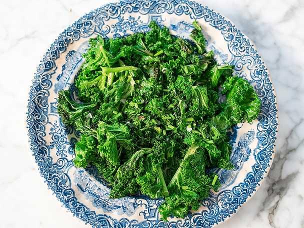 Smörstekt grönkål
