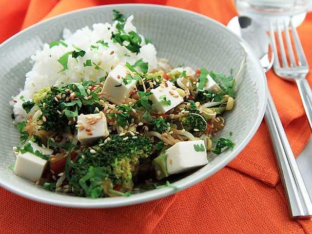 Snabb kinesisk gryta med tofu