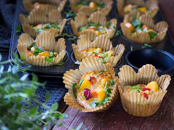 Snabba matmuffins med grönsakspytt