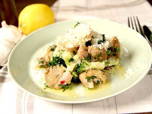 kyckling och broccoli
