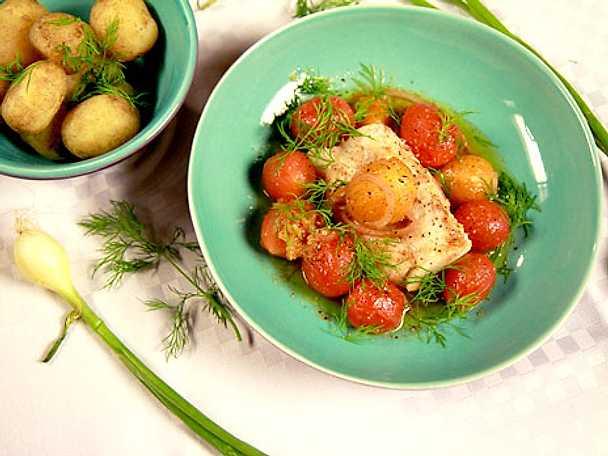 Snabbrimmad torsk med potatis