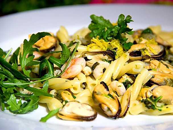 Snäckpasta med musslor