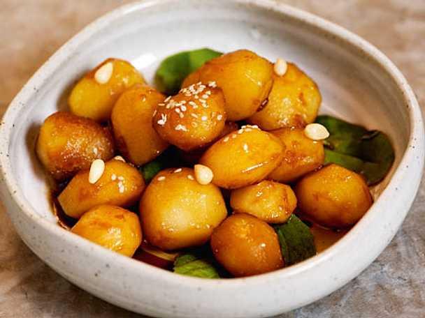 Sojainkokt potatis - Kamcha Jorim
