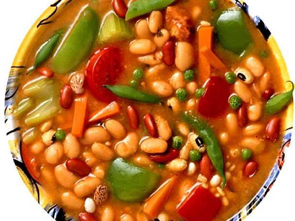 Soppa med bönor och paprika