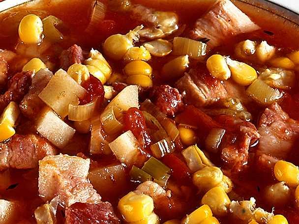 Soppa med majs och bacon