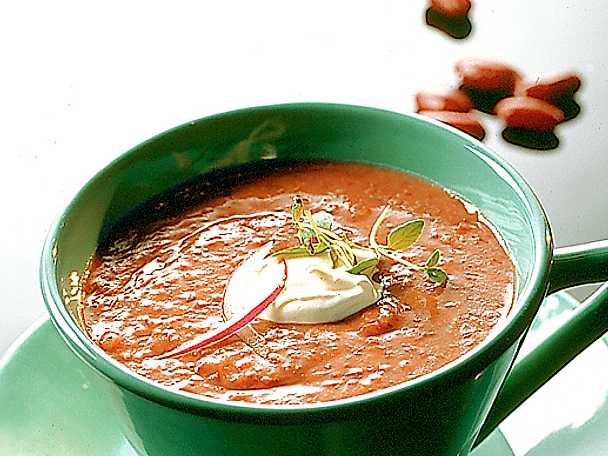 Soppa på röda bönor