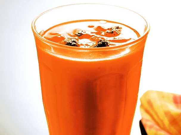 Soppa på sötpotatis och apelsin