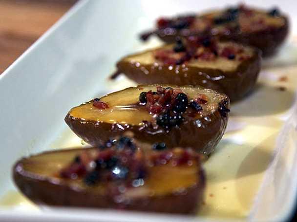 Sötsurt päron med grönpeppar