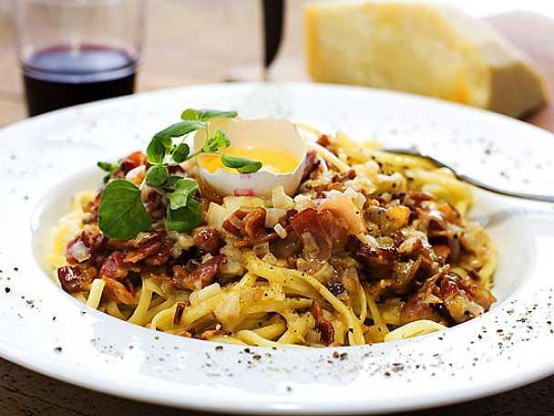 Spaghetti á la carbonara