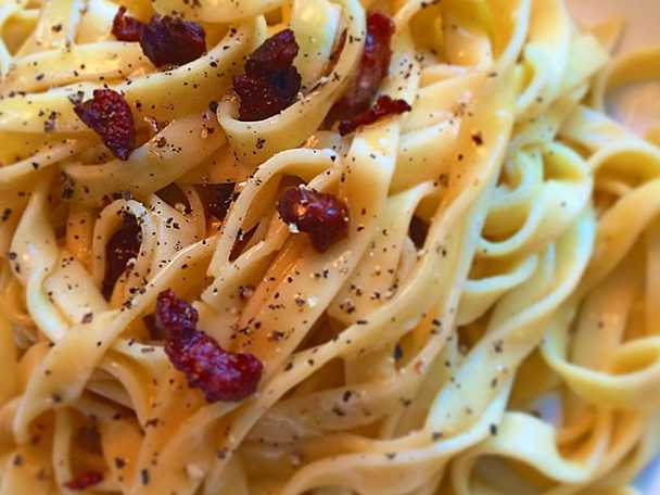 Spaghetti carbonara på riktigt