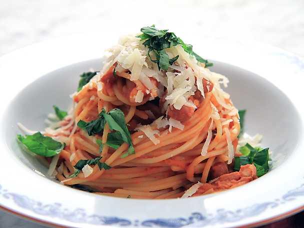 Spaghetti e fagioli