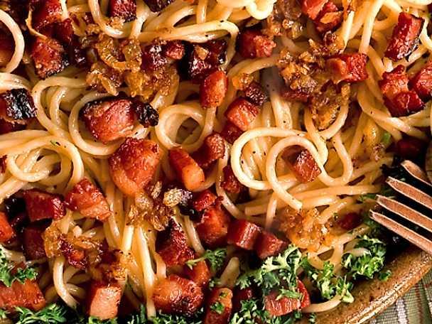Spaghetti för en liten slant