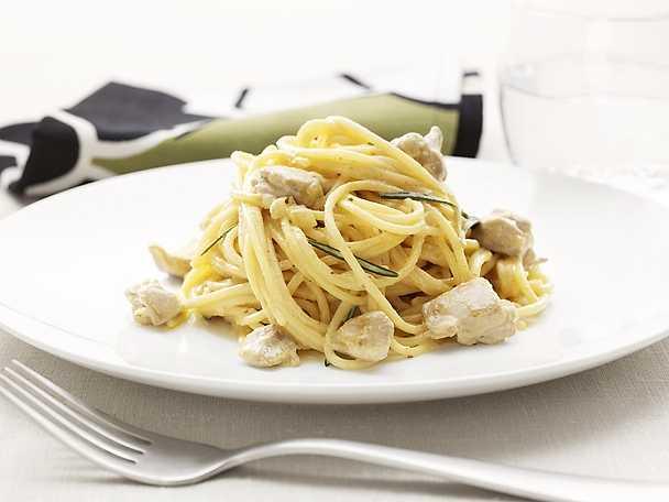 Spaghetti in Fricassea di Pollo