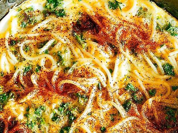 Spaghettiomelett