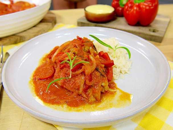 Gula Koket : Spansk kycklinggryta med rokig paprika och tomat  Recept fron