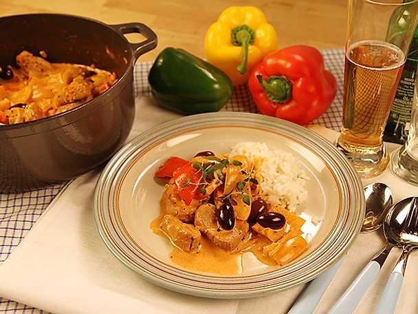 Spansk paprikagryta med fläskfilé