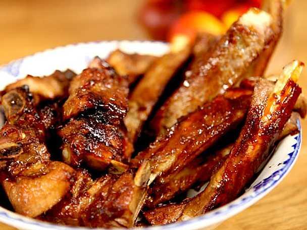Spare ribs med asiatisk glaze