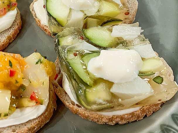 Sparris och zucchiniterrin med ingefäramajonnäs 02