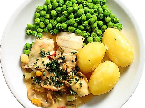 Spättarulader med grönsakssås