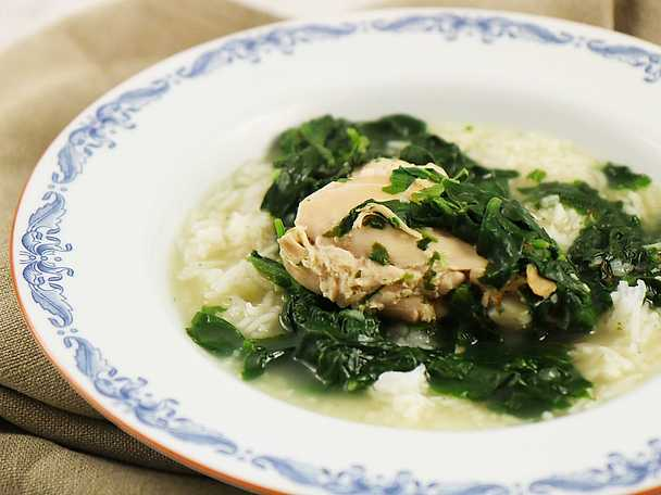 Spenat- och kycklinggryta med ris