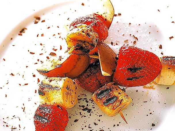 Spett med grillad frukt