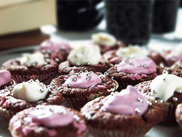 Sprudlande minichokladmuffins