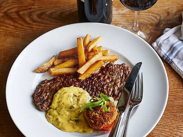 Steak minute med pommes frites