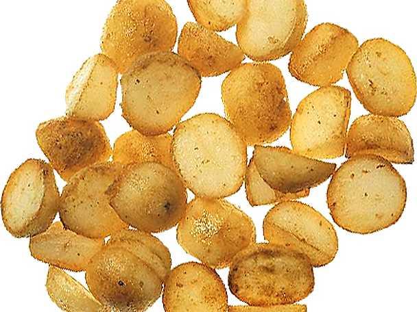 Stekt kokt potatis